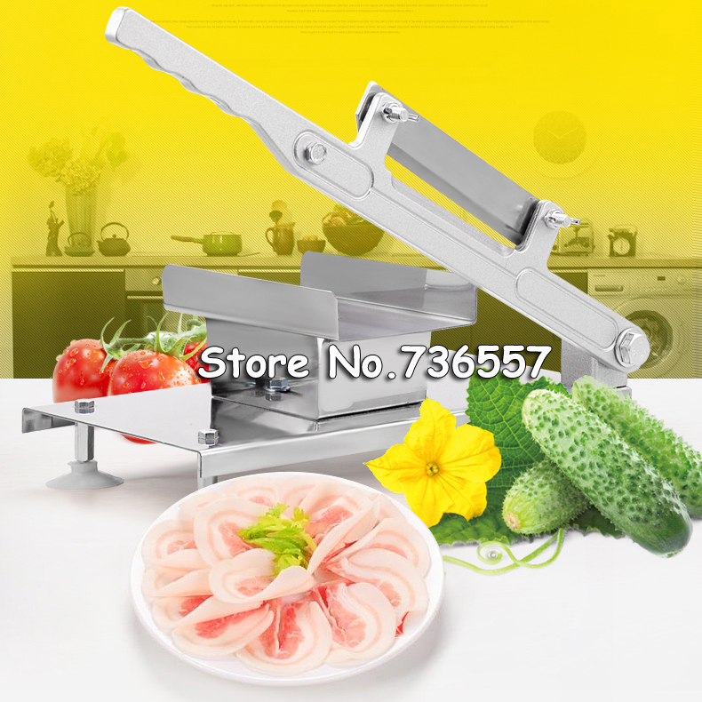 XF287 stainless steel manual Frozen meat slicer,handle meat cutting machine,Vegetable slicing machine,Mutton rolls machine lucog home cutting machine meat grinders kitchen mincing mincer with stainless blade manual cutter hand slicer for vegetable