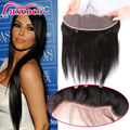 100% cabelo Humano Cambojano Virgem Cabelo Lace Frontal Encerramento 13x4 Reta Com o Cabelo Do Bebê 2/3/free parte Frontal Rendas de Orelha A Orelha