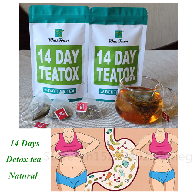 Chinese Herbal 14 Day Teatox Skinny Fat Burning Day Time and Bed Time Body Slimming Detoxing Healthy Weight Loss Anti Cellulite