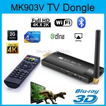 MK903V RK3288 Android 4.4 TV Stick Quad Core 1.8GHz 2G/8G XBMC HDMI 4K*2K H.265 2.4GHz/5GHz Dual WiFi OTG USB Smart TV Player