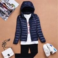 Fashion Winter Women Down Jacket Slim Eiderdown Solid Women Outwears Lady Warm Hooded Casual Zipper Coats