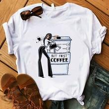 Coffee T Shirt Lady Luxury Make Up T-Shirt
