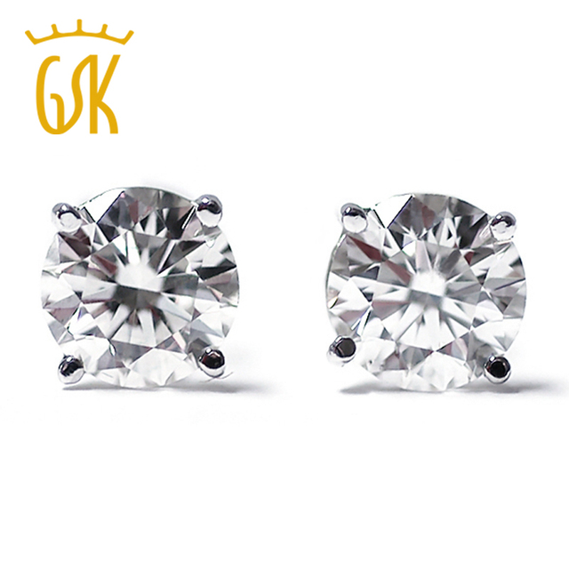 a87ef3b49 14K White Gold Diamond I J I1 I2 1/3 0.33 Ct Round Cut Stud Earrings Push  Backs-in Earrings from Jewelry & Accessories on Aliexpress.com | Alibaba  Group