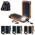 Солнечная Энергия Банк 12000 мАч Dual USB Порт Открытый Водонепроницаемый Power Bank с СВЕТОДИОДНЫЙ Фонарик Солнечное Зарядное Устройство для iPhone iPad