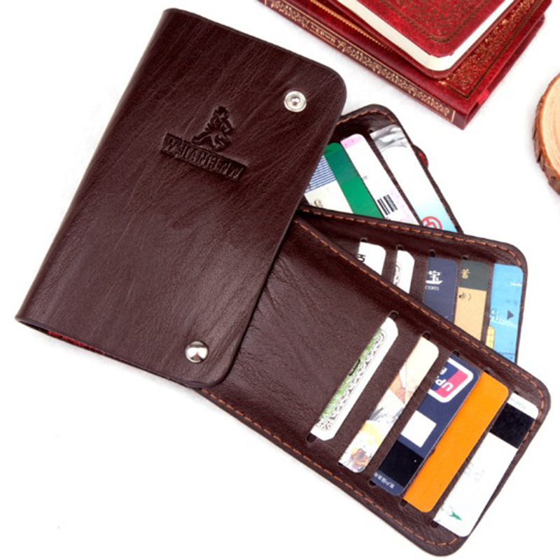 HENGSHENG Split Leather Men Business Card Holder Wallet Bank Credit Card Case ID Holders Women cardholder porte carte 2018 pu leather unisex business card holder wallet bank credit card case id holders women cardholder porte carte card case