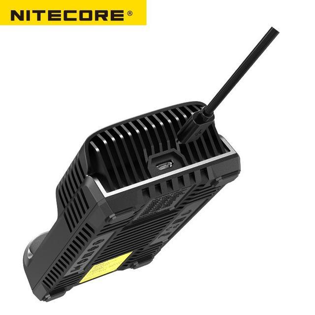 Nitecore UM2 USB podwójna ładowarka QC inteligentne obwody globalne ubezpieczenie li-ion AA 18650 20700 26500 26650 ładowarka