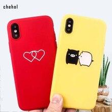 Heart Pig чехол для телефона с рисунком для iphone 6s 7 8 plus X XS Max XR мягкий силиконовый защитный чехол модные чехлы для животных аксессуары