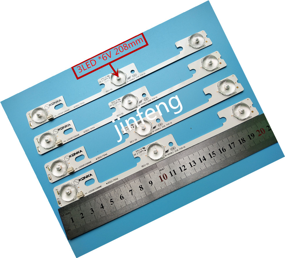 The Cheapest Price 100pcs/lot New And Original For Konka Led32f2300ne Led32f2300fx Light Bar 35017946 35017948 Backlight Lamp Led Strip 6v Limpid In Sight Computer & Office