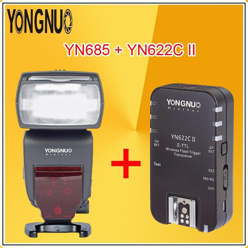 YONGNUO YN685 (YN 568EX II обновленная версия) Беспроводная вспышка HSS TTL со встроенным приемником для камер Canon + YN622C II RX