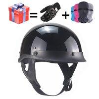 Adult Leather Harley Helmets For Motorcycle Retro Half Cruise Helmet Prince Motorcycle GERMAN Helmet Vintage Motorcycle Moto