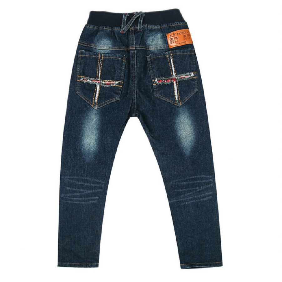 DIIMUU Infant Boys Clothing Elastic Waist Jeans Pants Toddler Denim Cotton Long Trousers Washed Casual Holiday Bottoms 5Years in Pants from Mother Kids