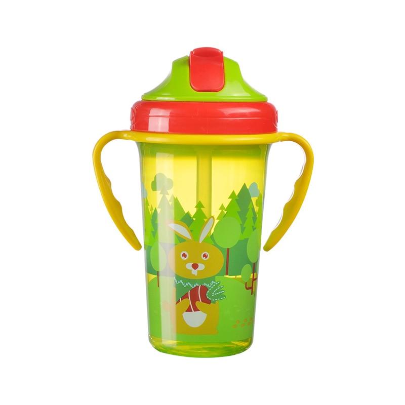 BPA Free New Baby Training Cup Infant Leak-Proof Cute Drinker Toddler Anti-fall Handle Bottles Kid Healthy Drink Kettle MY0052 (5)