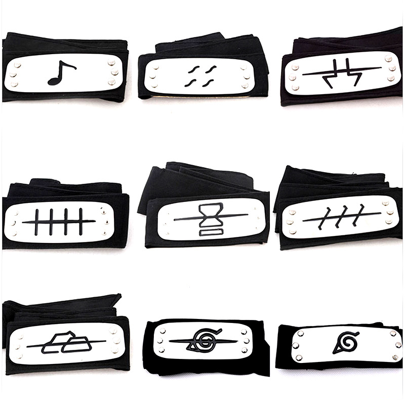 Anime Naruto Headband Leaf Village Logo Konoha Uchiha Itachi Kakashi Akatsuki Members Cosplay Costume Accessories
