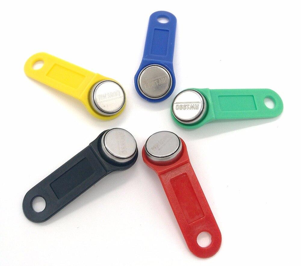 100pcs/Lot RW1990 Rewritable Clone RFID TM Touch Memory Key RW1990 Ibutton RFID Tag Sauna Key Can Copy Can Change Code