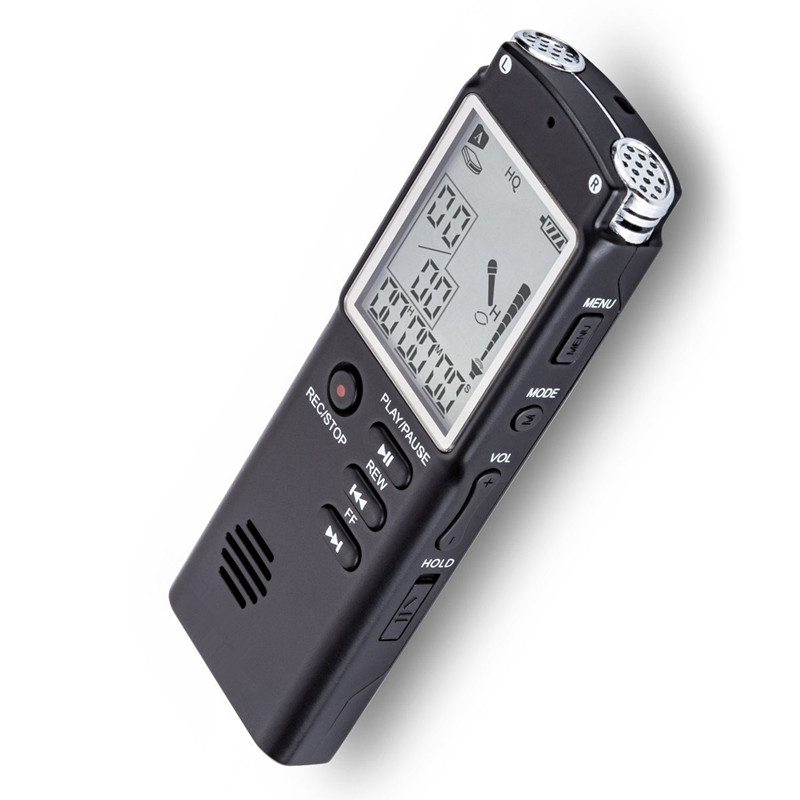 Portable 16GB Original Voice Recorder USB Professional 96 Hours LCD Dictaphone Digital Audio Voice Recorder with WAV MP3 Player