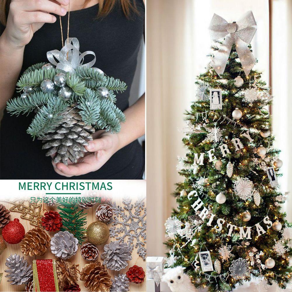 unidsset precioso rbol de navidad ornamento colgante bolas de piones pinecone suministros de