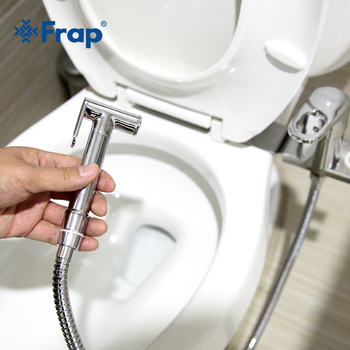 Frap 1set new Solid Brass Chrome Handheld Bidet Toilet Portable Shower Set With Hot and Cold Water Mixer F1250-2 - discount item  46% OFF Bathroom Fixture