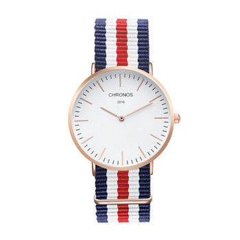 Brand CHRONOS Watches Men Women Quartz Watch Rose Gold Nylon Male WristWatch Clock Saat Relojes Mujer Relogio Masculino Hodinky 4