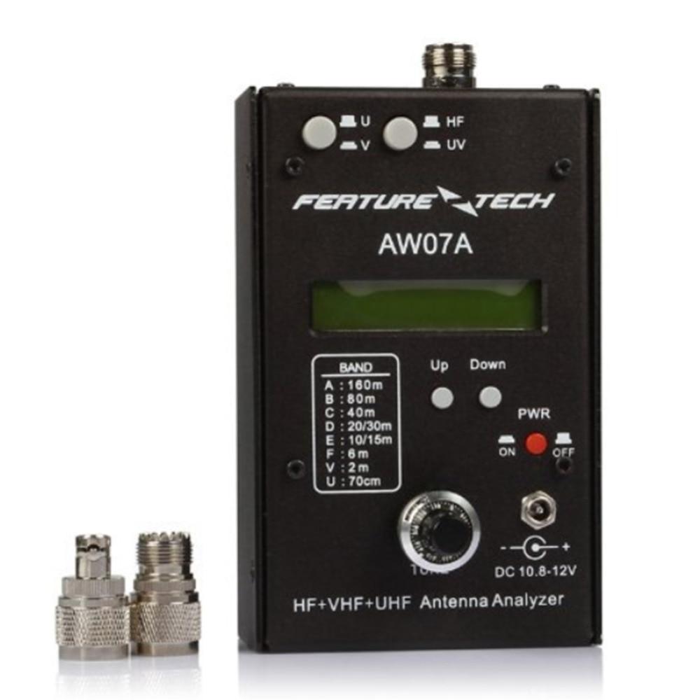 Alimentado por batería de impedancia de AW07A HF + VHF + Analizador de antena