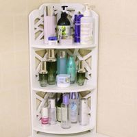Toilet bathroom corner shelf floor storage storage shelf can be wall mounted triangle shelf bathroom shelf lo89510