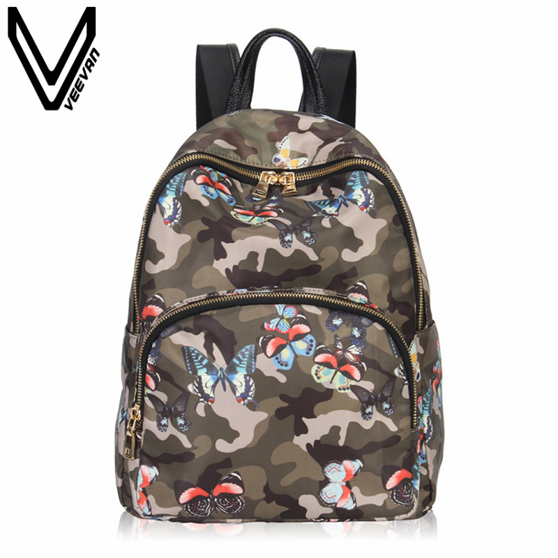 VEEVANV Brand New Designer Rivets Girls Shoulder Bags Women Backpack Female Travel Bags Fashion Printing Mochila School Backpack children school bag minecraft cartoon backpack pupils printing school bags hot game backpacks for boys and girls mochila escolar