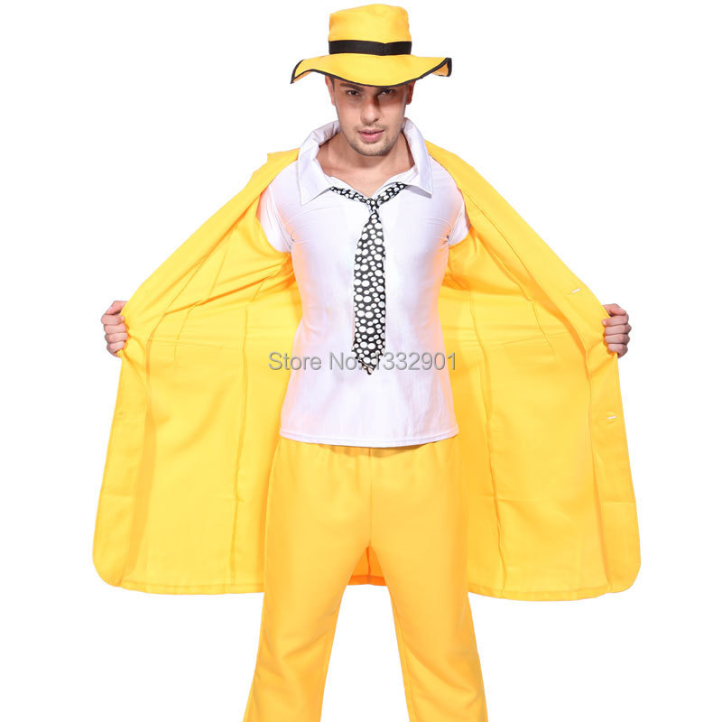 90s YELLOW GANGSTER ZOOT SUIT THE MASK JIM CARREY COSTUME ... Zoot Suit The Mask