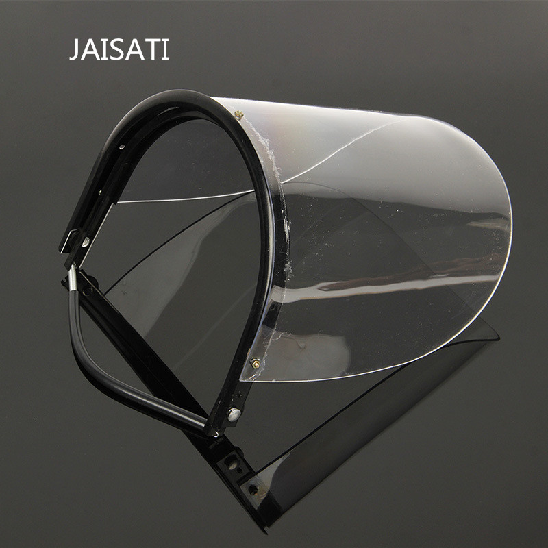 JAISATI Wearable protective masks Anti - splashing UV - proof glass transparent protective cover mask jaisati transparent protective anti oil splash welding mask headset plexiglass protective masks