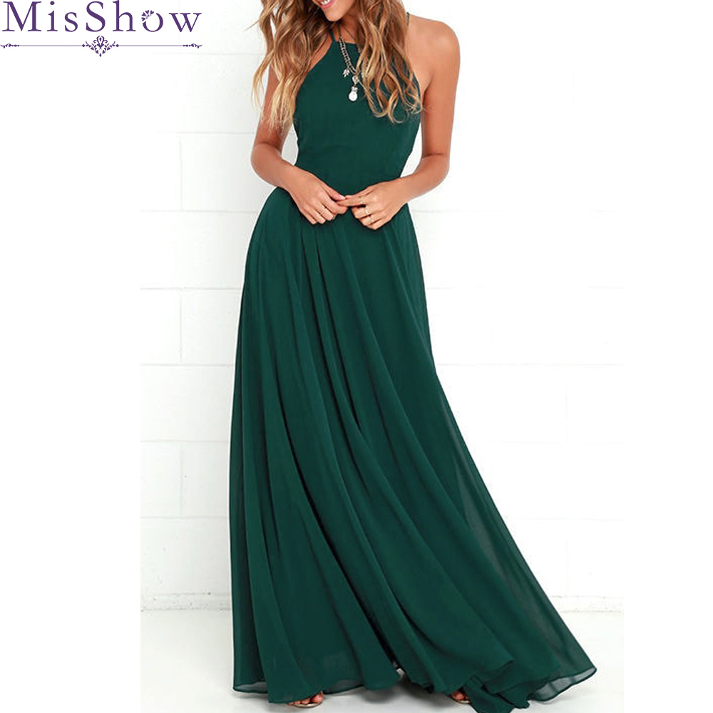2019 Simple A Line Green Prom   Dress   2019 Spaghetti Strap Long   Dress   A-Line Sleeveless Wedding Party Prom   Dress     Bridesmaid     Dress