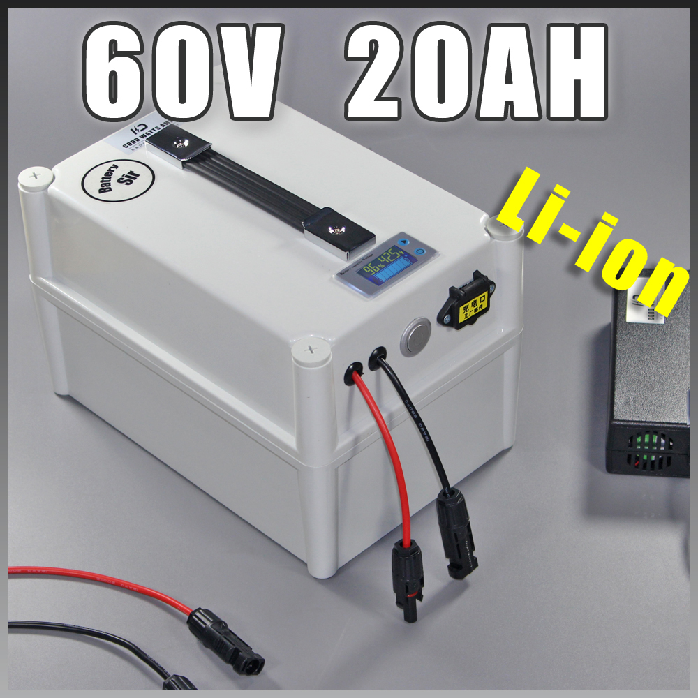 60V 20Ah elektrische Fahrradbatterie 60V elektrischer Roller 1500W - Radfahren