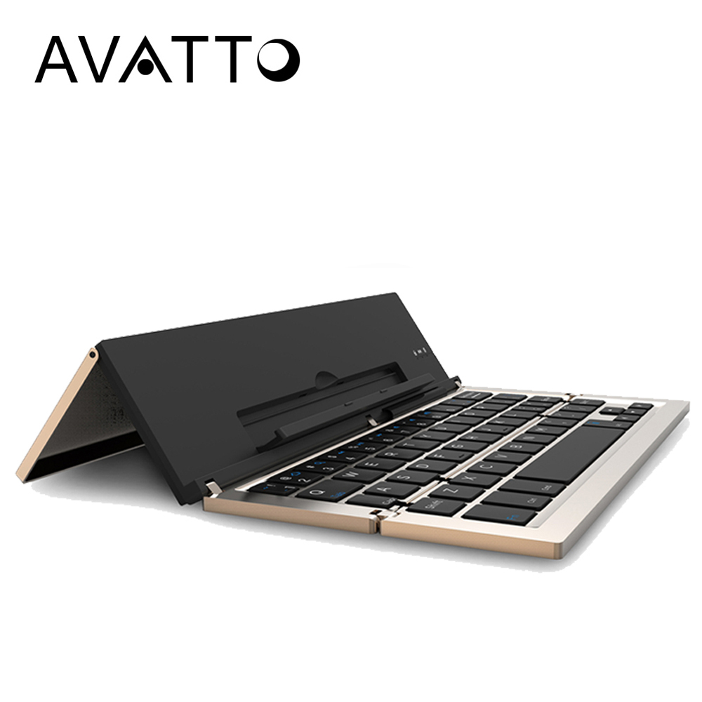 [AVATTO] New Arrival Foldable and Portable Bluetooth 3.0 Wireless Laptop Tablet Phone Mini Keyboard for Android IOS Mac Windows foldable portable phone flat bracket