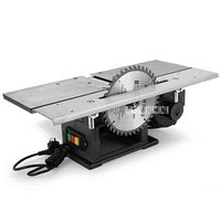 220V 2500r/min Multifunctional Woodworking Saws Desktop Electric 120A Wood Planer Planing Machine With Backing and 1.3KW Motor