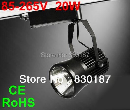 ФОТО LED track light 20W 2200LM 110V 220V Cob track lighting clothing Spot lights Showcase lamp Warm cold natural white