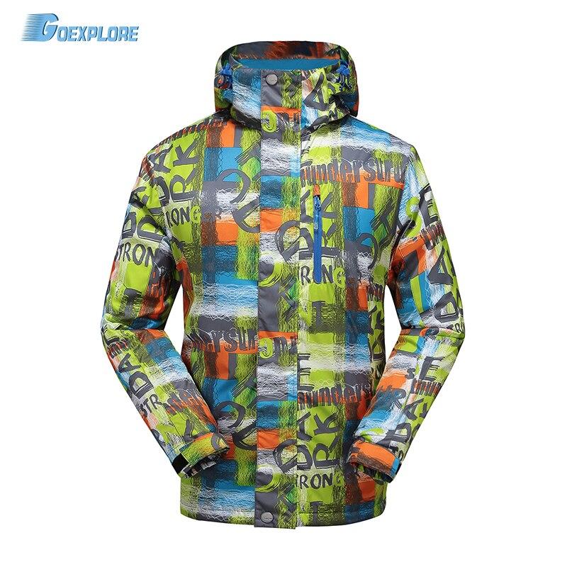 Goexplore Snowboard Jacket Men -30 degree Outdoor Sport Hiking Snow Coat Winter Thicken Warm Waterproof Snow Ski Jacket Male
