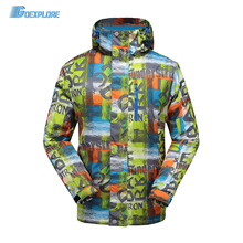 Goexplore Professional Snowboarding Clothing men Outdoor Sport Skiing Snow coat Waterproof Winter thicken Warm Ski Jacket male 2018 new lover men and women windproof waterproof thermal male snow pants sets skiing and snowboarding ski suit men jackets