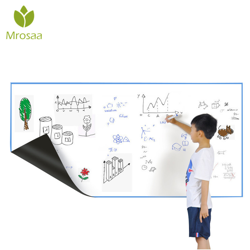 Mrosaa A3 30*42cm Flexible Fridge Magnets Whiteboard Waterproof Kids Drawing Message Board Magnetic Refrigerator Memo Pad mexi 10pcs bag round magnetic pin button memo message note whiteboard fridge home office refrigerator parts