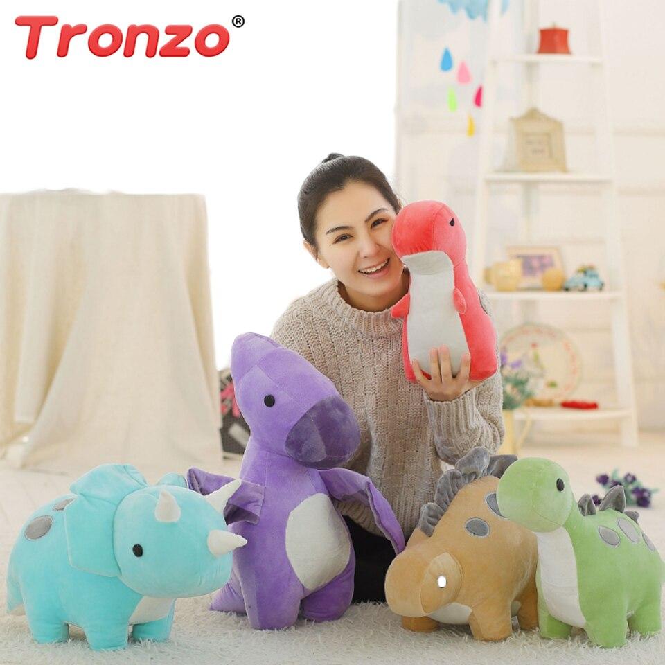 Tronzo Kuscheltiere 30/50 cm Dinosaurier Plüsch Puppe Nette Weiche Triceratops Tyrannosaurus Rex Plüsch Spielzeug Tiere Für Kinder