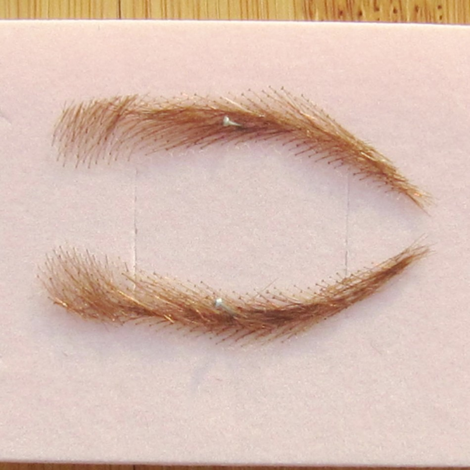 (Colour 27 blonde) Eye Brows. Instant Glamour. A pair made from 100% Human Hair strands.  Lace Eyebrow Wigs temporary eyebrow tattoos for cancer alopecia and hair loss instant glamour eye brows are made from 100% human hair strands