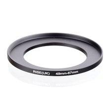Oryginalny RISE (UK) 49mm 67mm 49 67mm 49 do 67 pierścień redukcyjny adapter do filtra czarny