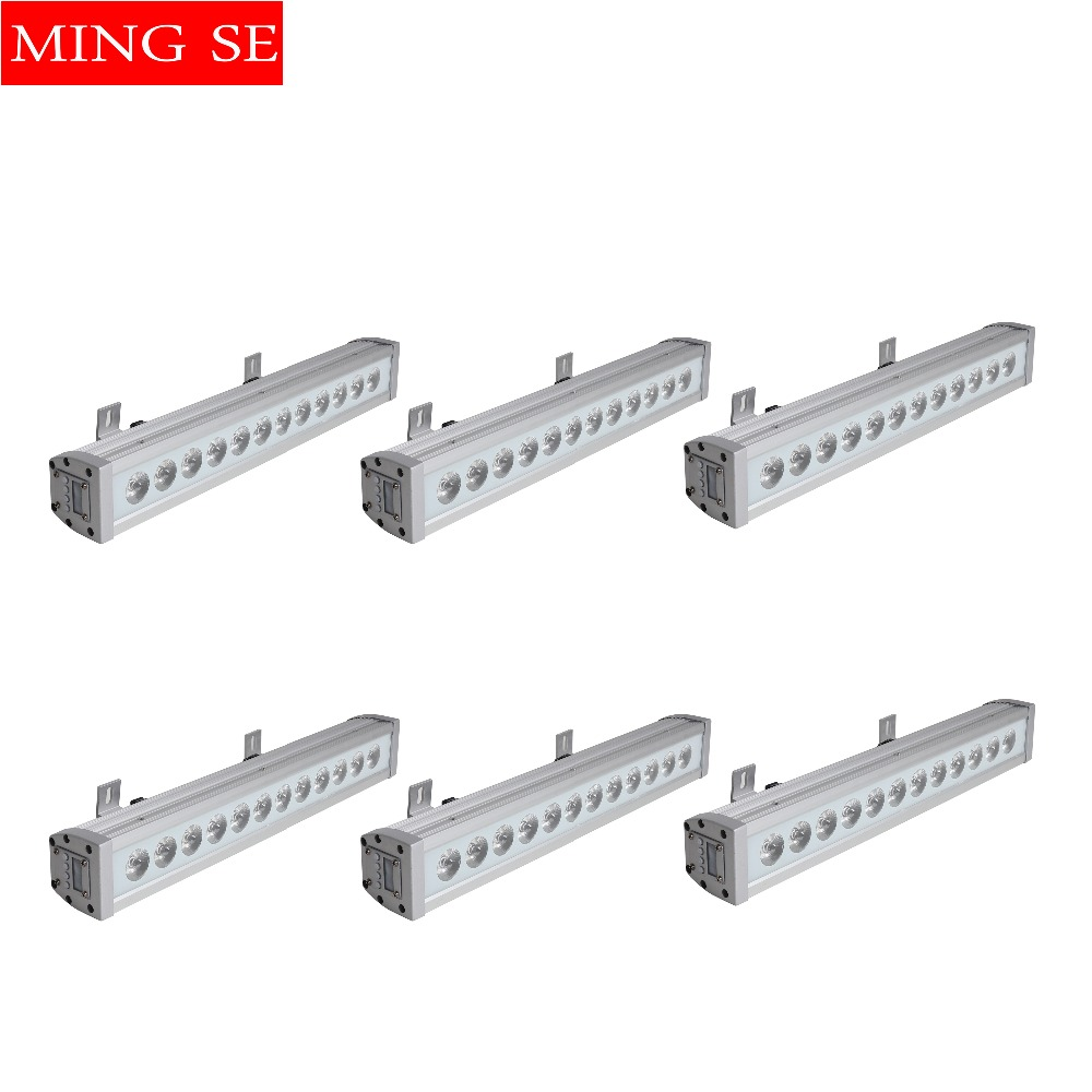 6pcs/lots 12x12w Rgbw 4in1 Ip65 Waterproof Led Bar Wall Washer Led Outdoor Flood Light Party Wedding Shows Stage Light Excellent In Cushion Effect Lights & Lighting