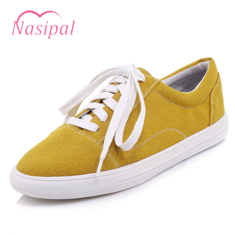 Nasipal Women Flat Shoes Pink White Women Shoes Breathable Soft Loafer Shoes Lace Up Plus Size Spring Women Platform Shoes C237 free shipping candy color women garden shoes breathable women beach shoes hsa21