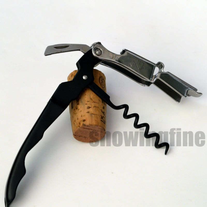 Free Shipping! Coutale  Wine Corkscrews Sommelier Double Lever  Mini Pocket Waiter's S.S. Bottle Opener Very Easy To Use