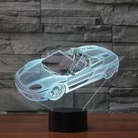 Sports Car Modeling NightLight Customized Led European Bedside Table Lamp Christmas Gift Children's Toys Desk Lamp