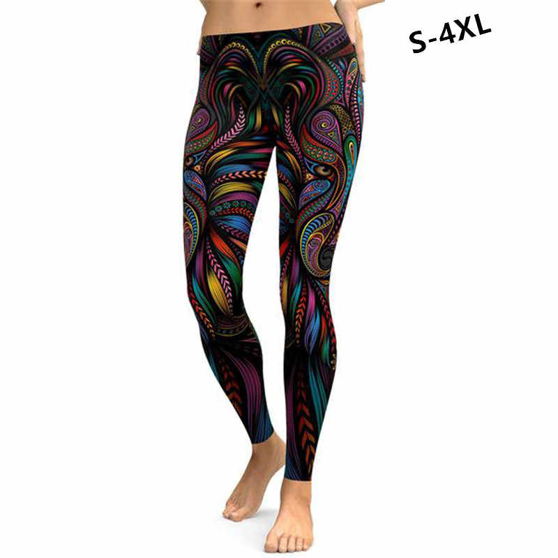 4c14a9d05f9 Gothic women s sexy hip 3D Artistic pattern print Leggings women fast wash  Ankle-Length Breathable