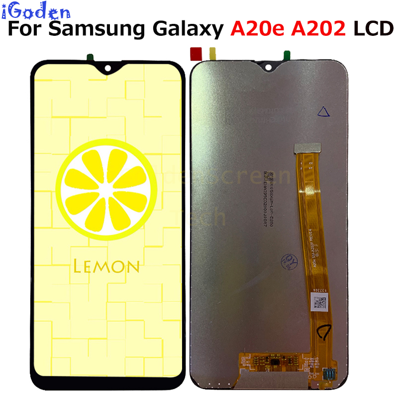 For Samsung Galaxy A20e A202 A202F A202DS Display Touch Screen Digitizer Assembly A202 A202F DS For