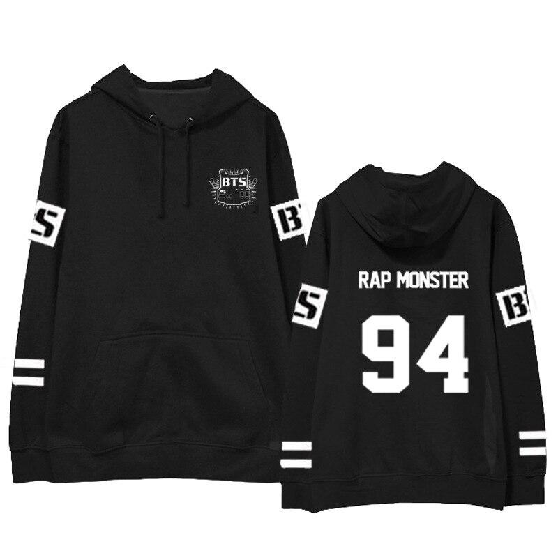 BTS concert same paragraph keep warm hoodies kpop men and women autumn winter printing sweatshirts Korea Harajuku wind tops