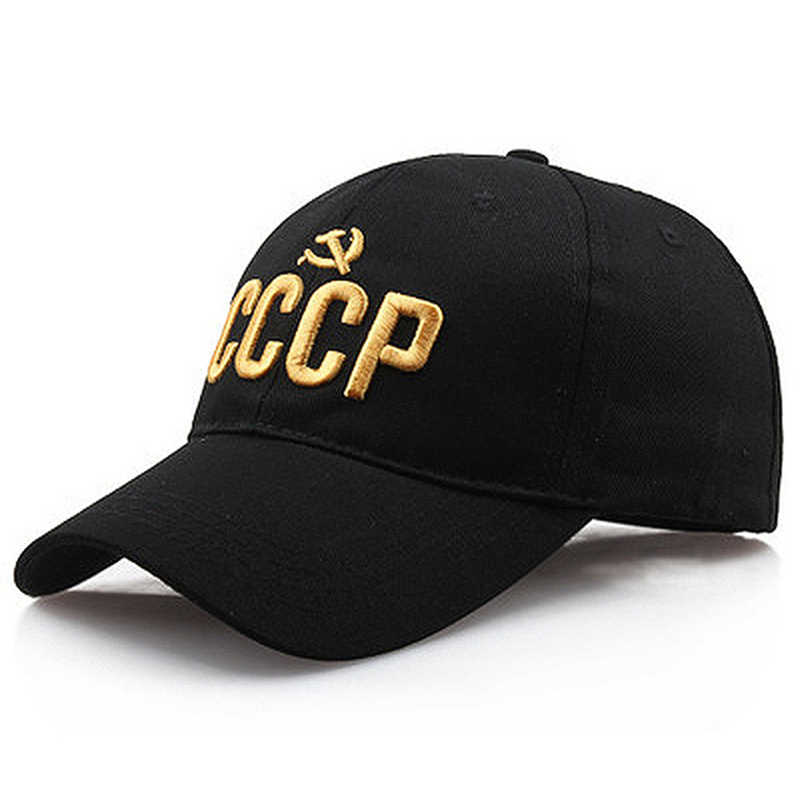 Unisex CCCP USSR Russische Cap Hot Koop Stijl Baseball Cap Women Men Cottonsnapback Hat 3D Embroidery Hip Hop Caps Wholesale