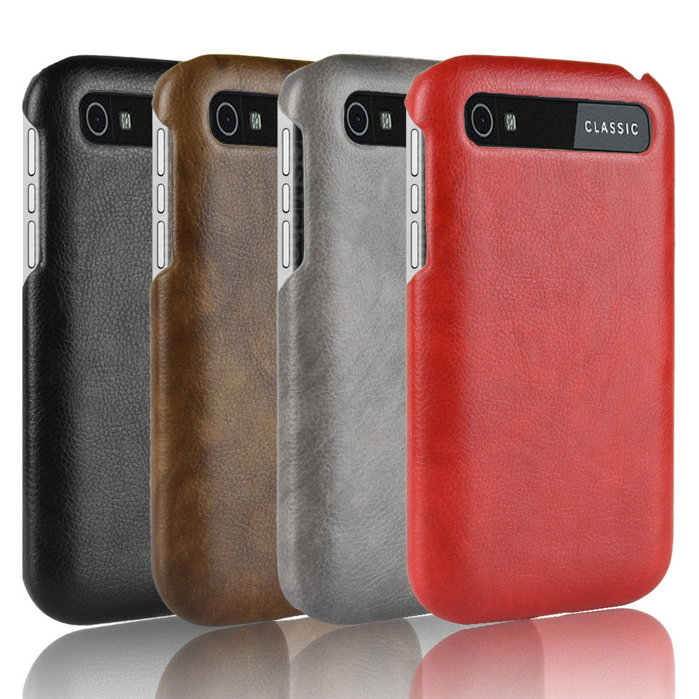 For BlackBerry  Luxury Business Frosted Vintage PU Leather Hard Back Cover 1