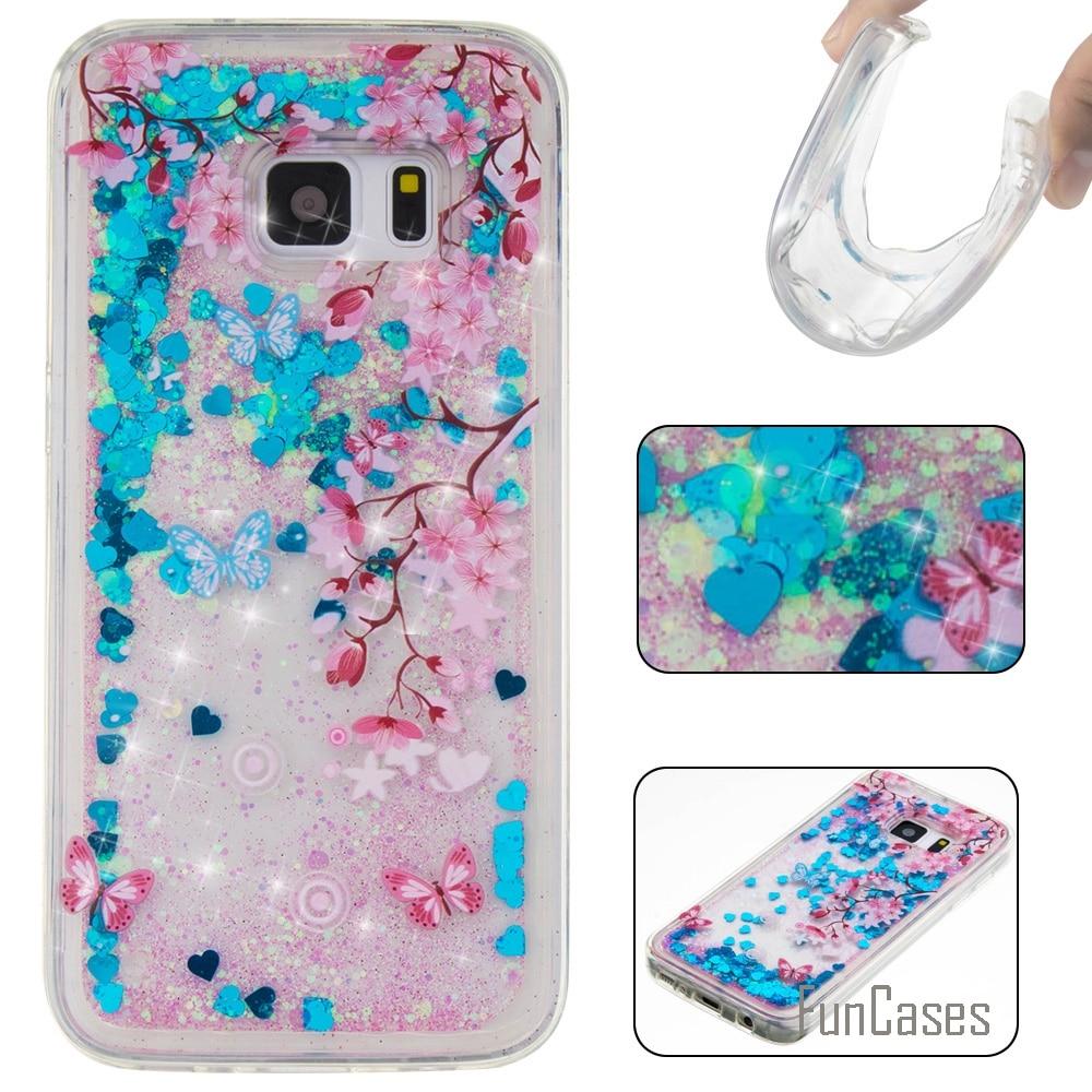 Funda Cute Quicksand Soft TPU Case For Samsung Galaxy S7 Coque Cartoon Phone Case Carcasas Etui Ajax Caso For Samsung S7 Estuche