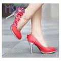 Das senhoras das mulheres Do Vintage Sexy Dedo Do Pé Redondo sapatos de Salto Alto Sapatos Bombas Das Mulheres do Partido Cinderela Cristal Falso Subiu Sapatos de Casamento Borboleta