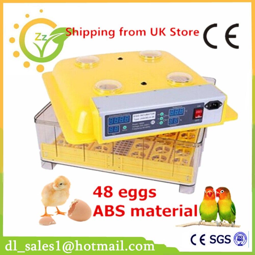 Automatic Egg Incubator Tool For 48 Eggs Chicken Duck Poultry Incubator Machine For Sale + Candler Gift 60 eggs incubator new design jn5 60 mini egg incubator poultry hatcher egg chicken quail duck incubator
